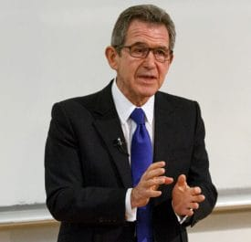 Lord Browne speaking at the event