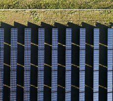 Solar power plant - aerial view